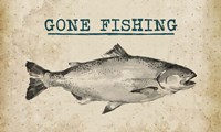 Gone Fishing Salmon Black and White Fine-Art Print