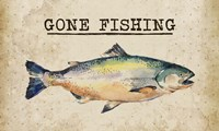 Gone Fishing Salmon Color Fine-Art Print
