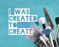 I Was Created To Create Painter Blue Fine-Art Print
