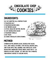 Chocolate Chip Cookies Recipe White Background Fine-Art Print