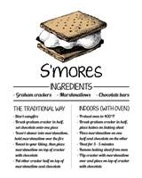 S'mores Recipe White Background Fine-Art Print