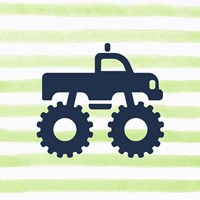 Monster Truck Graphic Green Part I Fine-Art Print