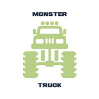 Monster Truck Graphic Green Part II Fine-Art Print