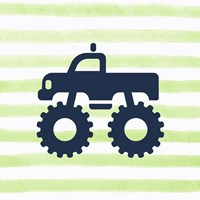 Monster Truck Graphic Green Part III Fine-Art Print