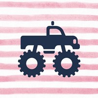 Monster Truck Graphic Pink Part I Fine-Art Print