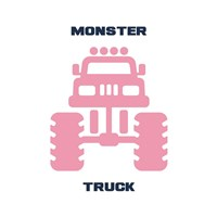 Monster Truck Graphic Pink Part II Fine-Art Print