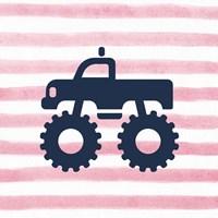 Monster Truck Graphic Pink Part III Fine-Art Print
