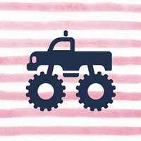 Monster Truck Graphic Pink Part III Fine-Art Print