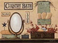 Country Bath - Soak, Lather Fine-Art Print