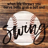 Grab a Bat and Swing Fine-Art Print