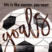 Soccer Goals Fine-Art Print