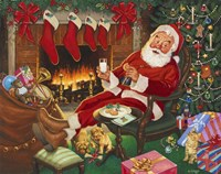 Santa's Break Fine-Art Print