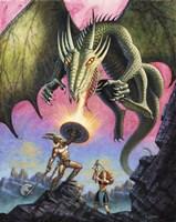 Attack of the Fire Drake Fine-Art Print