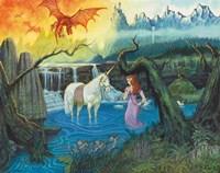 The Princess and Her Unicorn Fine-Art Print