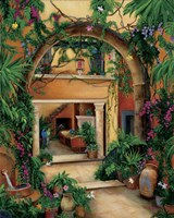 Hacienda Courtyard Fine-Art Print