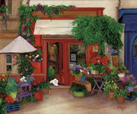 Red Flower Shop Fine-Art Print
