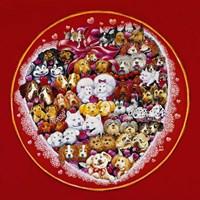 Valentine Dogs Fine-Art Print