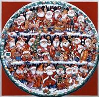 Santa On Shelves Fine-Art Print