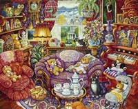 Teatime For Teddy Fine-Art Print