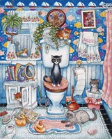 Bathroom Cats Fine-Art Print