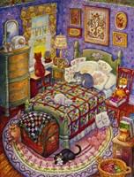 More Bedroom Cats Fine-Art Print