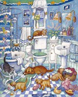 Bathroom Pups Fine-Art Print