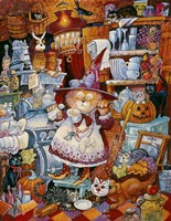 Kitty Kitchen Witch 2 Fine-Art Print