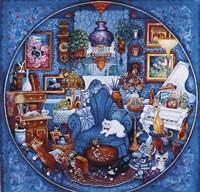 More Blue Room Cats Fine-Art Print