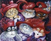 Red Hat Cats Fine-Art Print