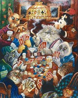 Poker Cats Fine-Art Print