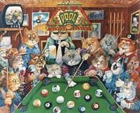 The Hustler ( Pool Cats ) Fine-Art Print