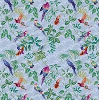 Aviary Small Scroll Periwinkle Fine-Art Print