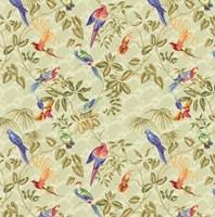 Aviary Small Scroll Sage Fine-Art Print
