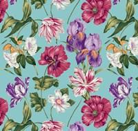 Floral Waltz Aqua Fine-Art Print