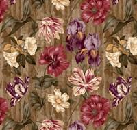 Floral Waltz Textured Scroll Stripe Hazelnut Fine-Art Print