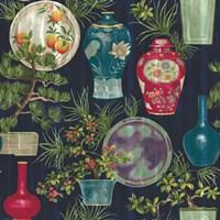 Japanese Vases Blue Fine-Art Print