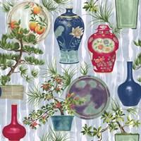 Japanese Vases Srokes Multi Fine-Art Print