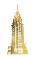Gold Foil Chrysler Fine-Art Print