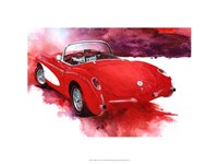 '57 Red Corvette Fine-Art Print