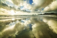 Kailua Beach Gold Streaks Fine-Art Print