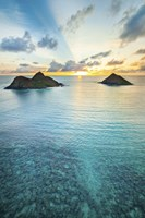 Lanikai Rainbow Sunrise Fine-Art Print