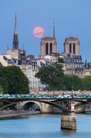 Fullmoon In Notre Dame De Paris Fine-Art Print