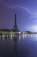 Lightening Over the Eiffel Fine-Art Print
