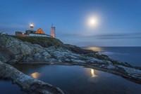 Lighthouse at Night Fine-Art Print