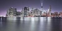 Manhattan Skyline Night Fine-Art Print