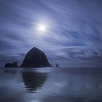 Moon Over Canon Beach Fine-Art Print