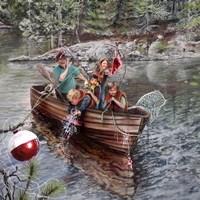 Grampa And The Kids Fine-Art Print