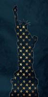 Golden Blue Statue Fine-Art Print