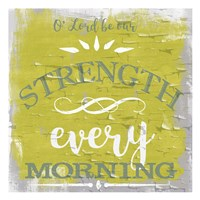 Be Our Strength Rustic Yellow Fine-Art Print