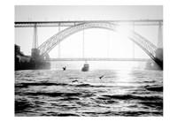 Portugal Porto BW Bridge Fine-Art Print